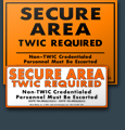 Secure Area Signs